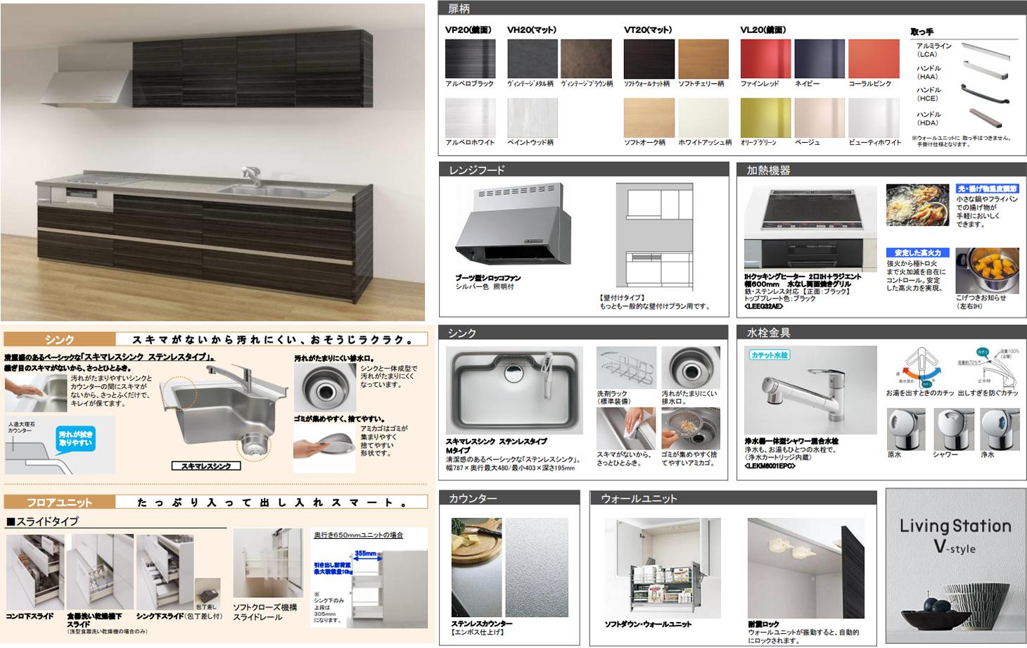 Panasonic キッチン リビングステーション Vスタイル